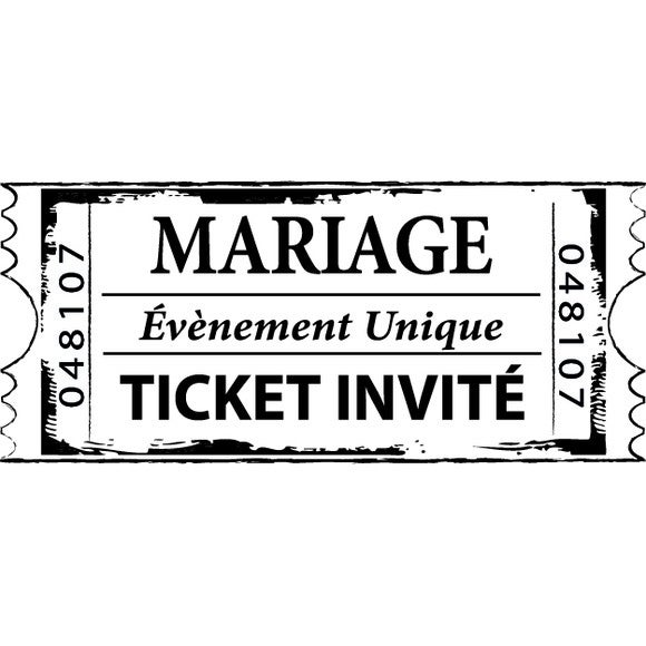 Tampon ticket mariage