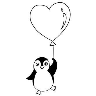 ALADINE - D Tampon pinguin ballon