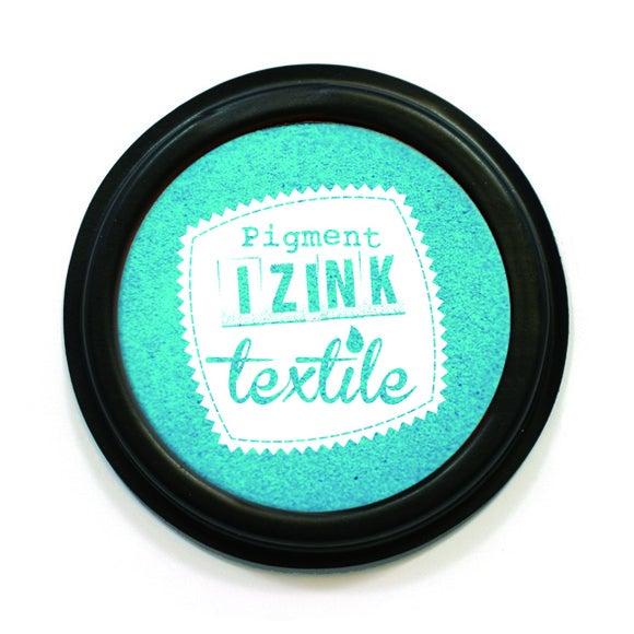 Encreur textile Izink turquoise pastel