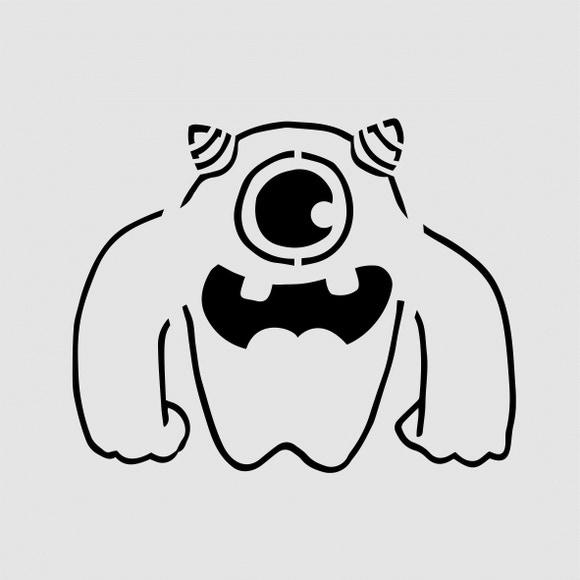 Achat en ligne Pochoir enfant monstre 9*9