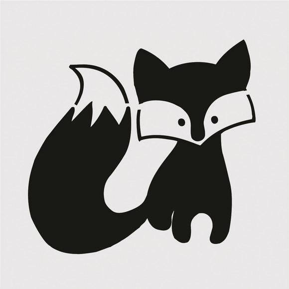 Achat en ligne Pochoir enfant renard 9*9