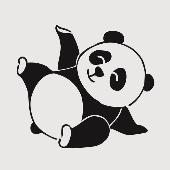 Achat en ligne Pochoir enfant panda 9x9 cm