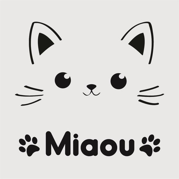 Achat en ligne Pochoir enfant chat 9*9