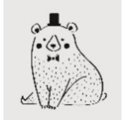 acquista online Stencil orso 9x9cm