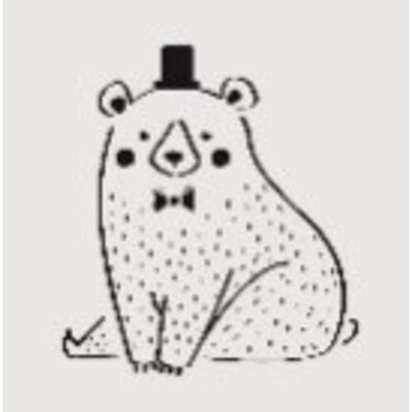 Pochoir enfant ours 9*9