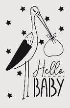 Achat en ligne Pochoir enfant hello baby 19*29