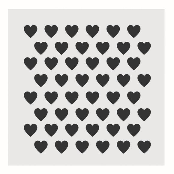Achat en ligne Pochoir déco cœurs 9*9