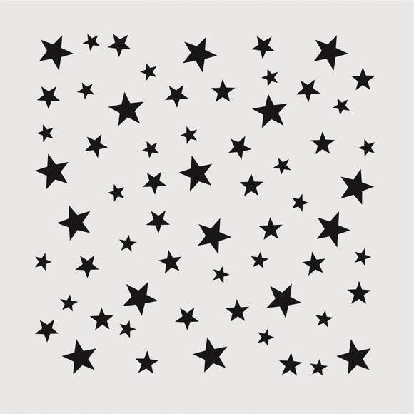 acquista online Stencil stelle deco 9x9cm