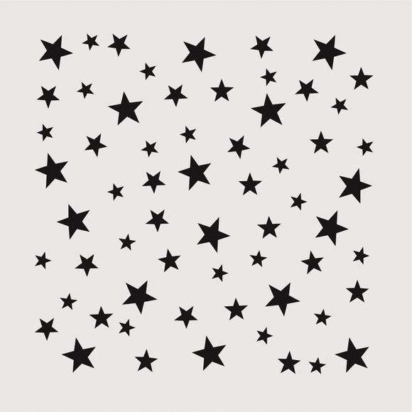 Achat en ligne Pochoir déco étoiles 9*9