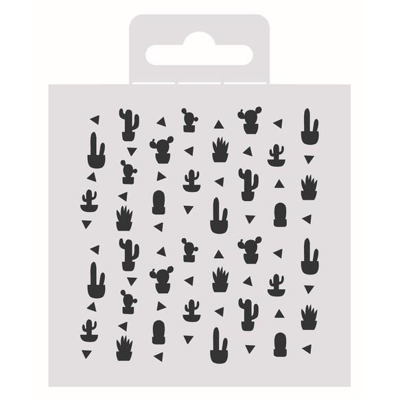 acquista online Stencil cactus deco 9x9cm