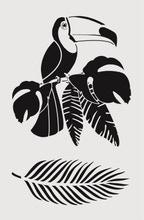 Achat en ligne Pochoir déco toucan 19*29