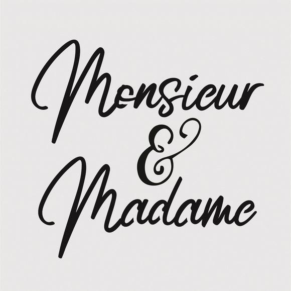 Achat en ligne Pochoir event monsieur madame 9*9