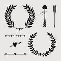 Stencil corone e frecce 19x19cm