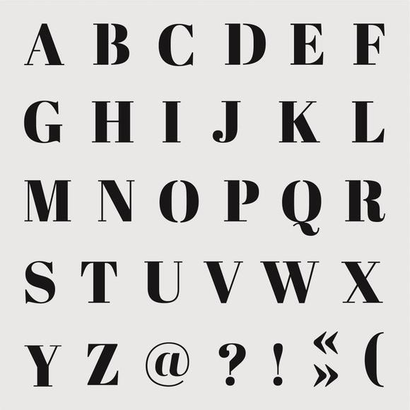 Achat en ligne Pochoir alphabet classique small 9*9