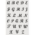 Stencil alfabeto maiuscolo brush 19x29cm