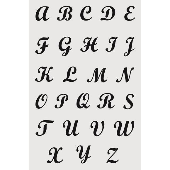 acquista online Stencil alfabeto maiuscolo brush 19x29cm