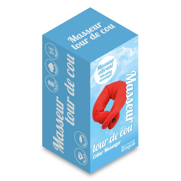 acquista online Girocollo massaggiatore rosso
