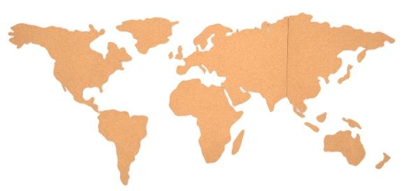 Achat en ligne Carte du monde en liège