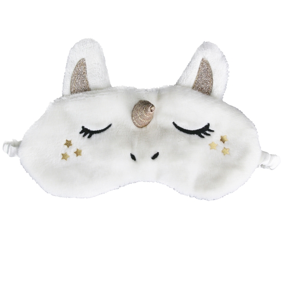 Achat en ligne Masque de nuit pour les yeux licorne blanc fourrure