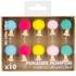 10 punaises pompons couleurs