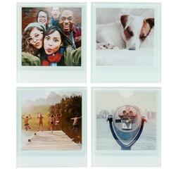 Achat en ligne 4 dessous de verre en verre personalisables avec une photo