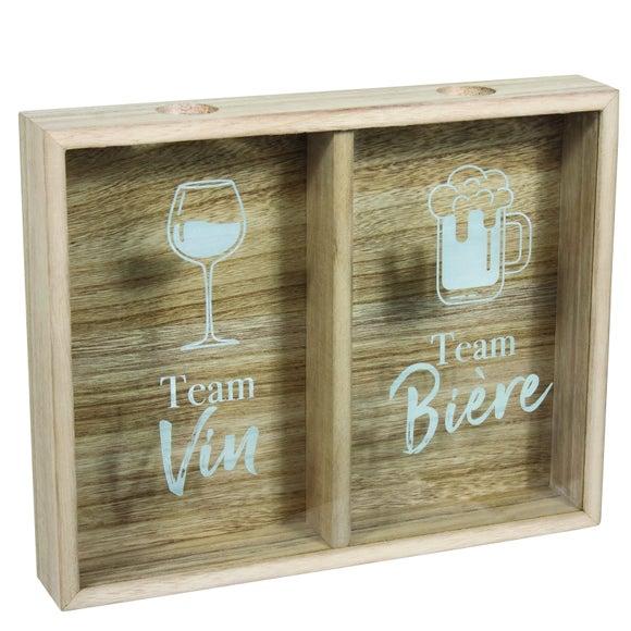 Achat en ligne Cadre bouchon team biere vs team vin