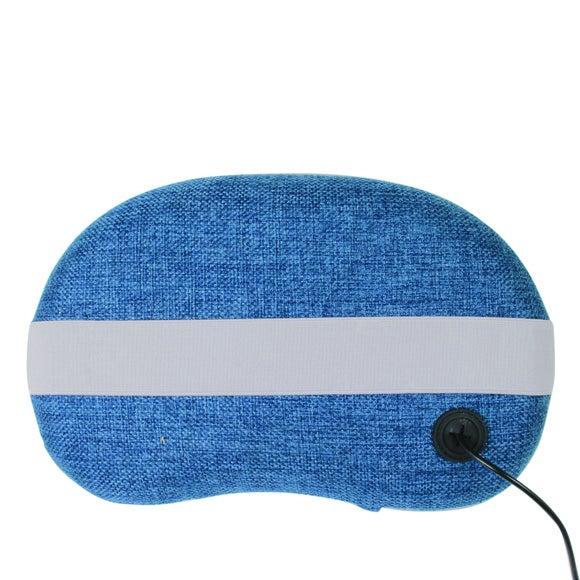 Coussin de massage chauffant bleu jean