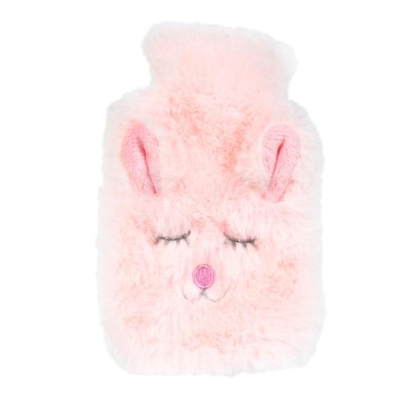 Achat en ligne Chaufferette lapin fourrure rose