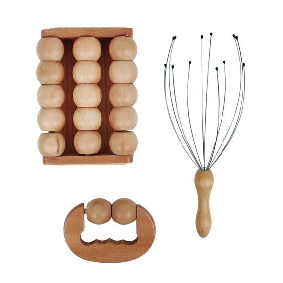 Achat en ligne Coffret de massage en bois 3 pièces