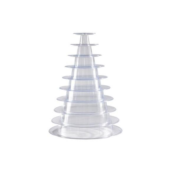 Achat en ligne Présentoir pyramide à macarons en plastique