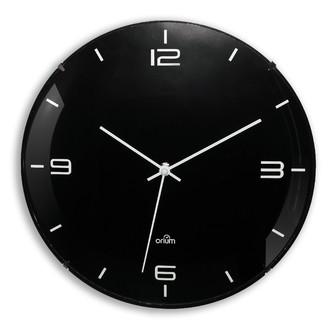 Horloge murale ronde silencieuse noire Eleganta Ø30cm