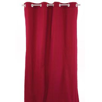 ZODIO - Rideau rouge tango Louise 140x260cm