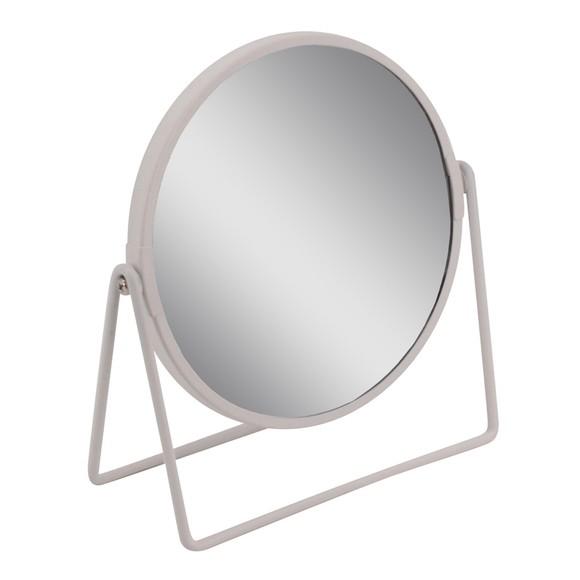 Miroir métal blanc à poser