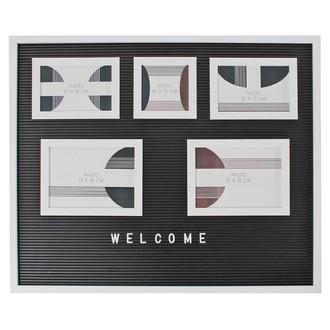 Horloge letterboard 32,5x20x4,5cm