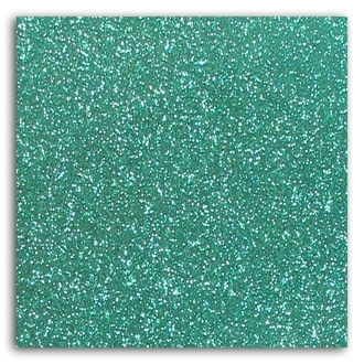Feuille glitter thermocollant vert jade A4