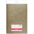 Feuille glitter thermocollant champagne A4