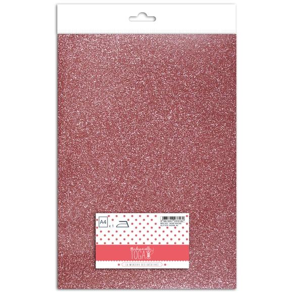Achat en ligne Feuille glitter thermocollant rose nacré A4