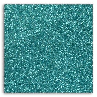 Feuille glitter thermocollant bleu givré A4