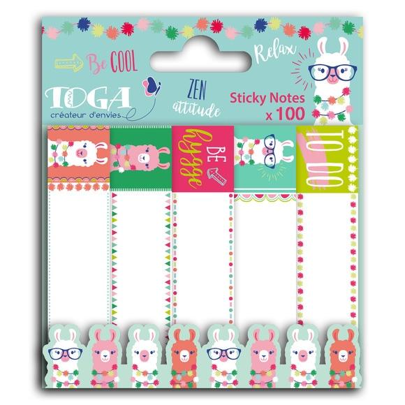 Achat en ligne 100 sticky notes lama