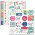 2 planches de stickers 15x15 lama