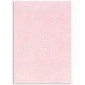 Feuille de tissus adhésif rose poudré pois blanc A4