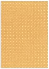 Achat en ligne Feuille de tissu adhésif pois moutarde A4