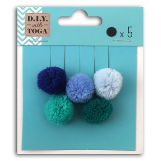 TOGA - 5 pompons rond ice