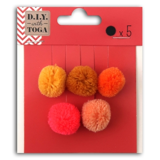 TOGA - 5 pompons rond juicy