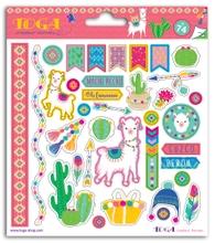 Achat en ligne 2 planches de stickers à theme Lama