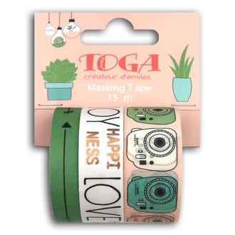 TOGA- Lot de trois masking tape lifestyle polaroid