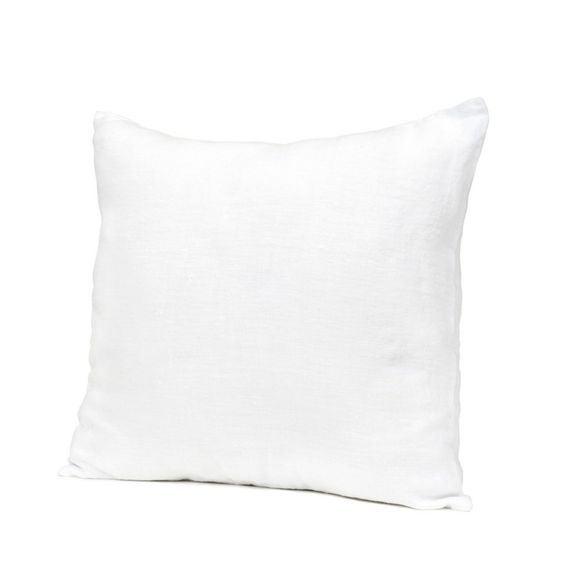 Coussin carré en lin blanc 45x45cm