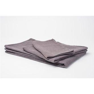 Serviette invité 30x50cm en lin gris java