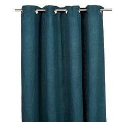 compra en línea Cortina 100% lino azul oscuro Propriano (140 x 280 cm)