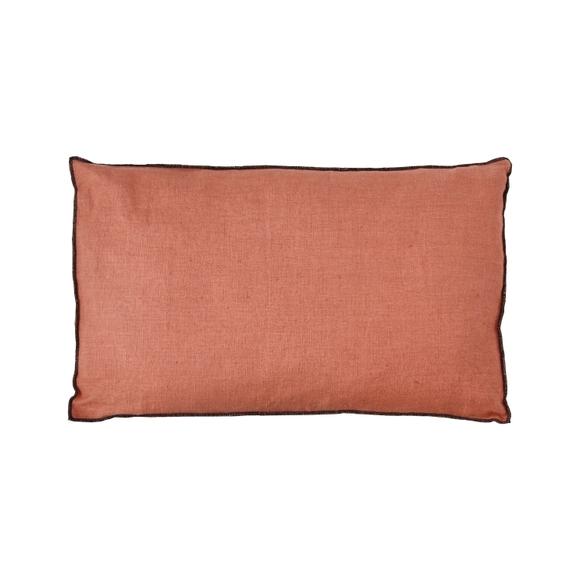 Achat en ligne Coussin en lin rouge terracotta Noa 40x60cm